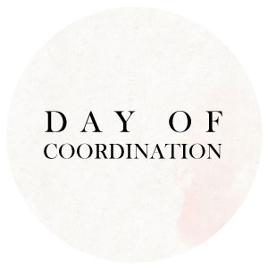 day of coordination wedding planner