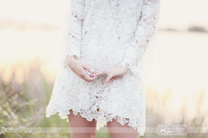 Artsy Vintage Short Mini Wedding Dress Brides
