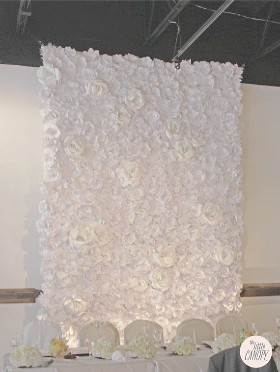 The little canopy artsy weddings indie weddings vintage weddings artsy chanel inspirated handmade paper flower wedding backdrop mightylinksfo