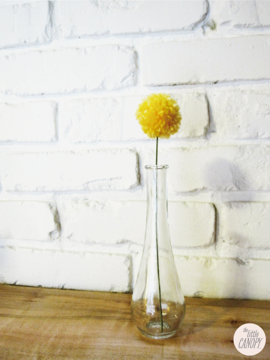 Artsy Vintage Wedding Table Decor Yarn Pompom Craspedia Billy Ball Flower