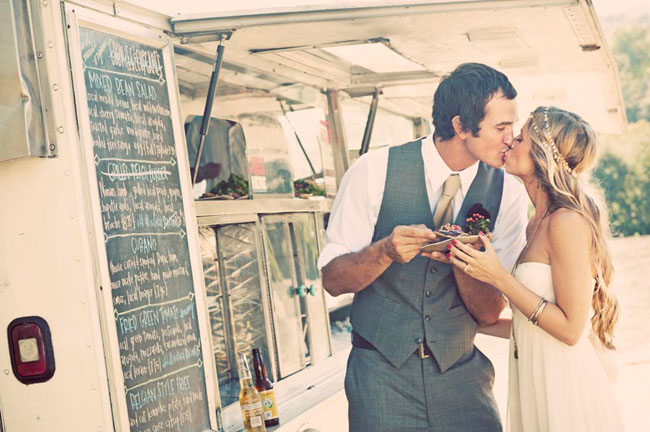artsy wedding idea food truck wedding