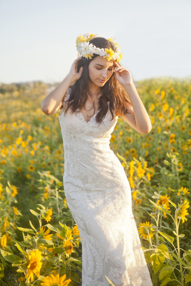 Artsy Vintage Rustic Sunflower Wedding Inspiration