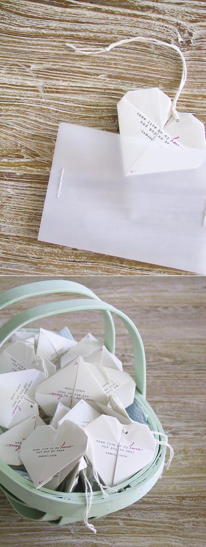 Artsy Vintage Handmade Paper Origami Wedding Ideas