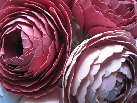 Artsy Vitnage Hanmade Wedding Paper Flower Bouquets