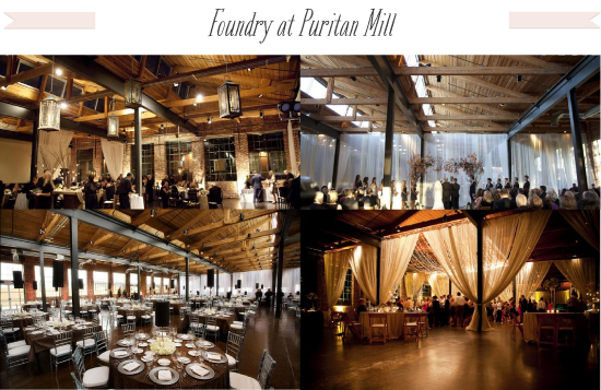 The little canopy artsy weddings indie weddings vintage artsy rustic warehouse wdding foundry at puritan mill junglespirit Image collections