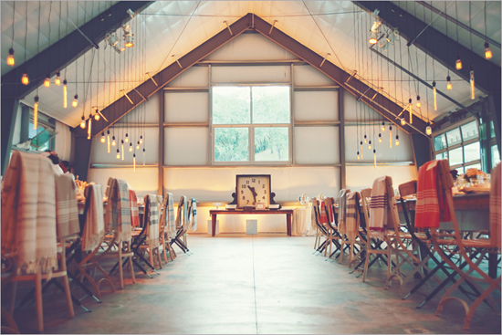 Detailed reception barn area