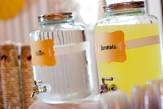 DIY Handmade Barn Wedding Lemonade