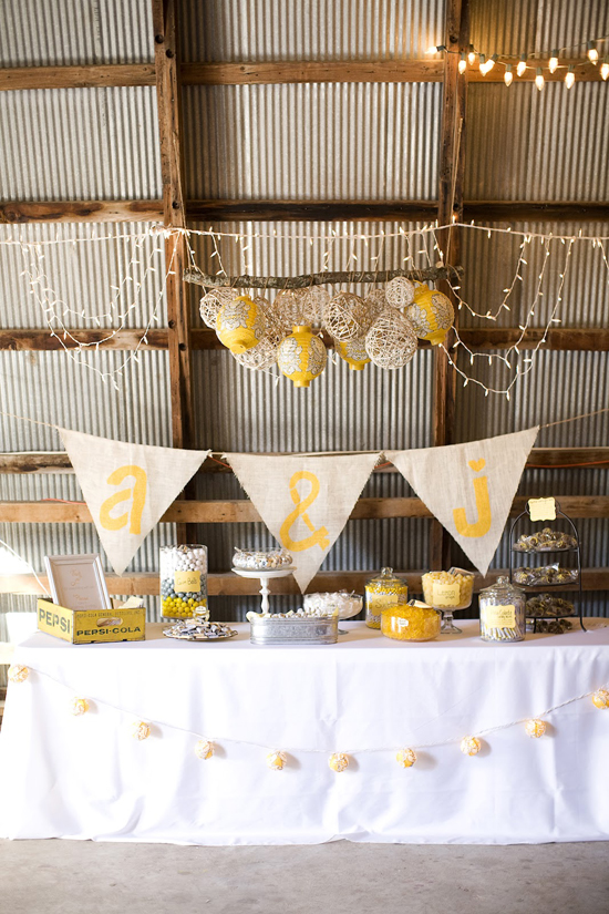 DIY Handmade Barn Wedding Dessert Table