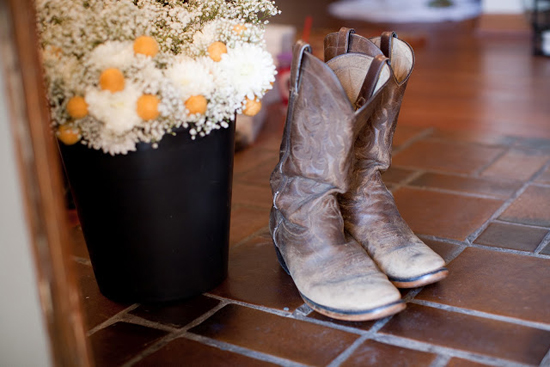 DIY Handmade Barn Wedding Cowboy Boots