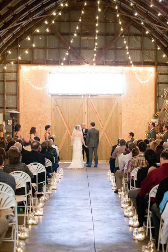 DIY Handmade Barn Wedding Altar
