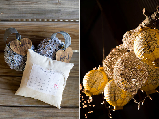 DIY Handmade Barn Wedding Ring Pillow