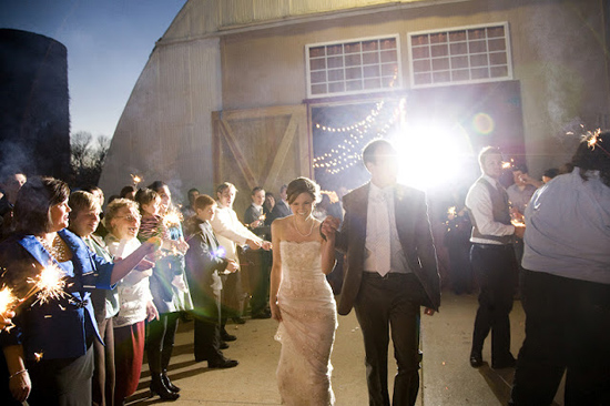 DIY Handmade Barn Wedding The Couple Exit