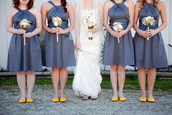 DIY Handmade Barn Wedding Bridesmaids