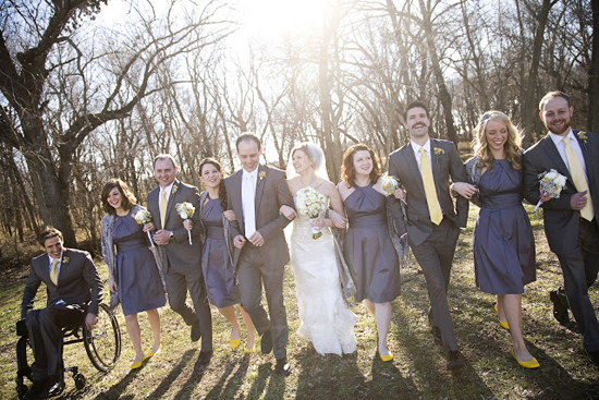 DIY Handmade Barn Wedding Bridal Party