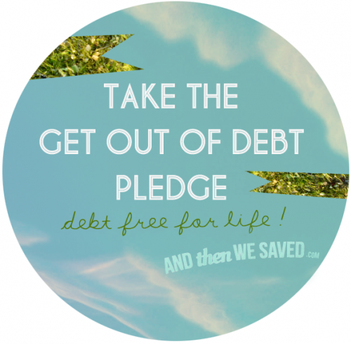 Get Out of Debt Pledge for New Years Resolution
