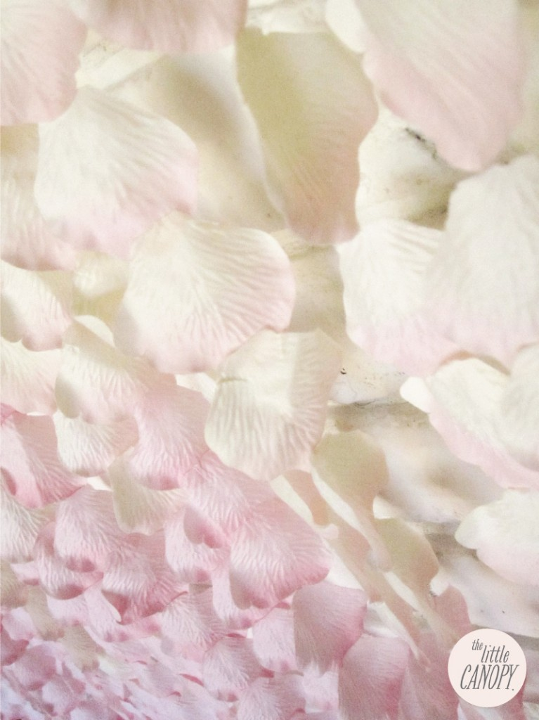 Handmade Flower Petal Curtain Backdrop