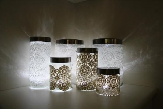 vintage romantic lace wedding candle holder