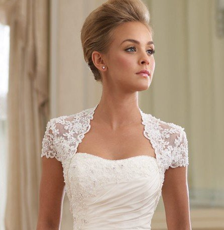 Vintage Romantic lace wedding bolero jacket