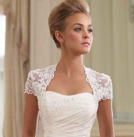 Vintage Romantic lace wedding bolero jacket