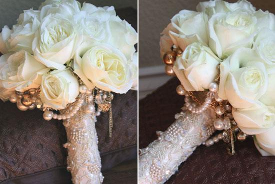 vintage romantic lace wedding lace bouquet wrap