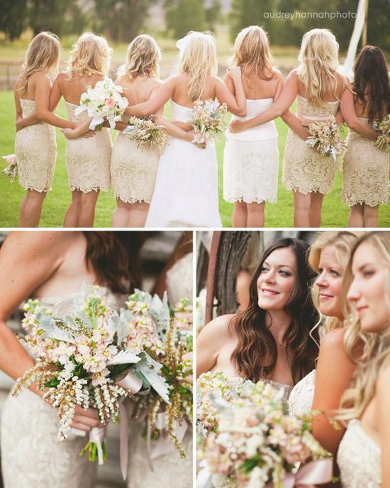 vintage romantic lace wedding lacey bridesmaids dress