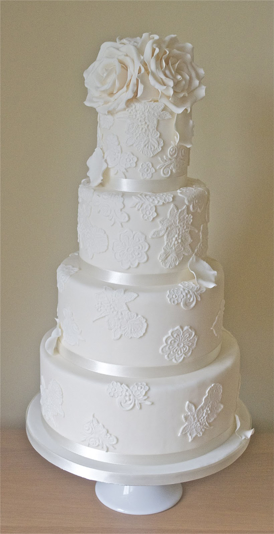 how to vintage romantic lace wedding cake