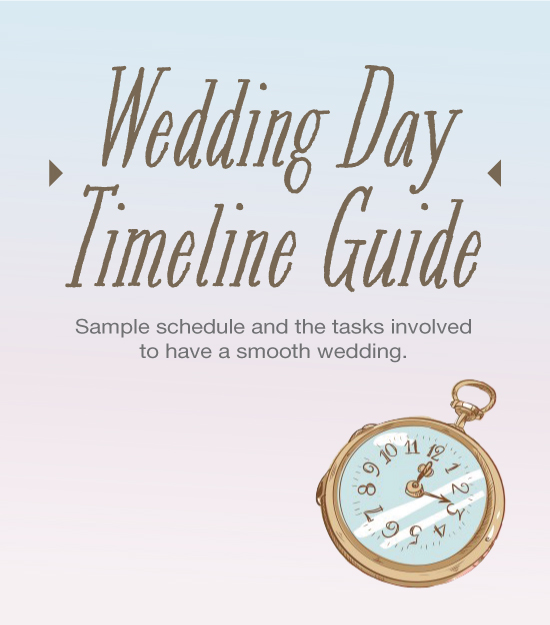 Actual Wedding Day Timeline program sample