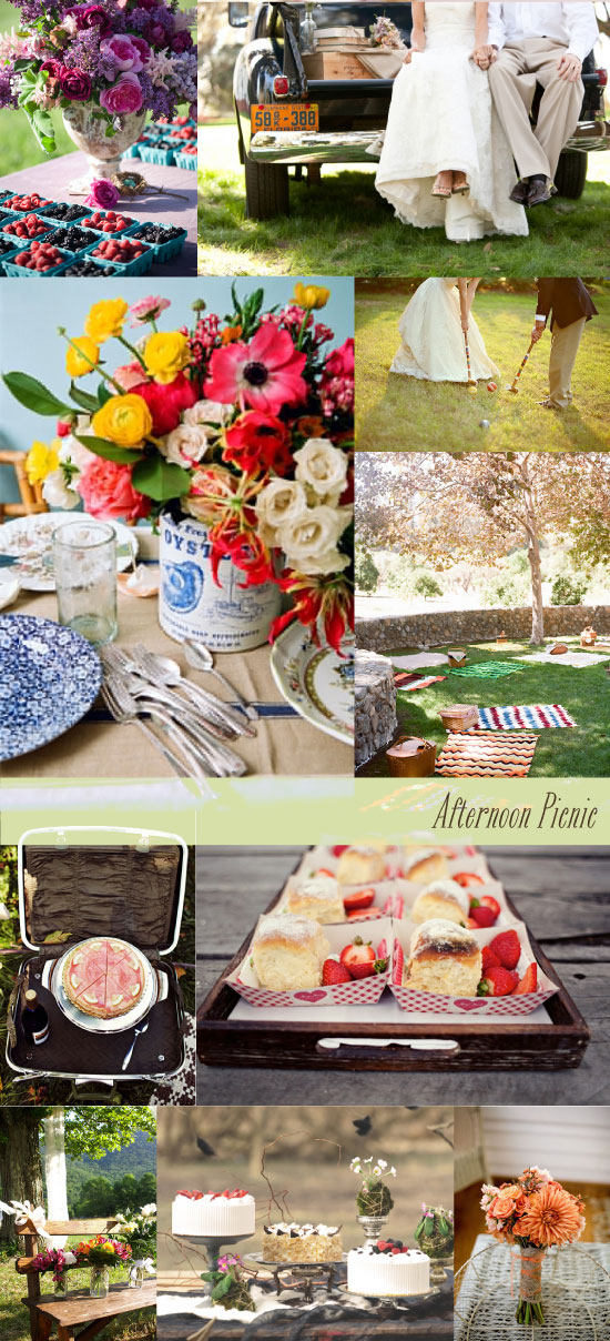 Wedding Inspiration Board Country Afternoon Picnic Wedding