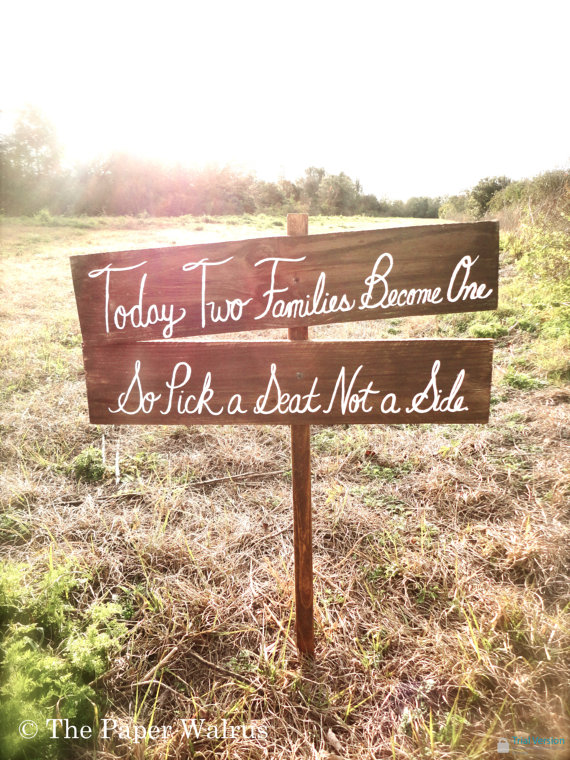 artsy-handmade-wedding-sign-thepaperwalrus