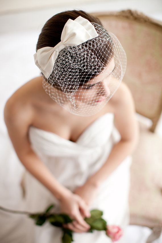 Romantic Handmade Wedding Birdcage Veil Blusher