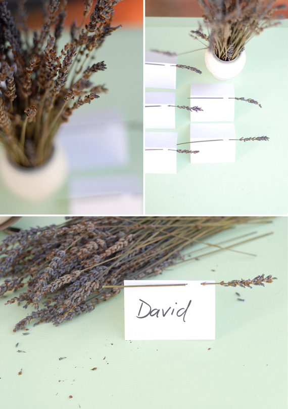 DIY Lavender Escort Cards Tutorial