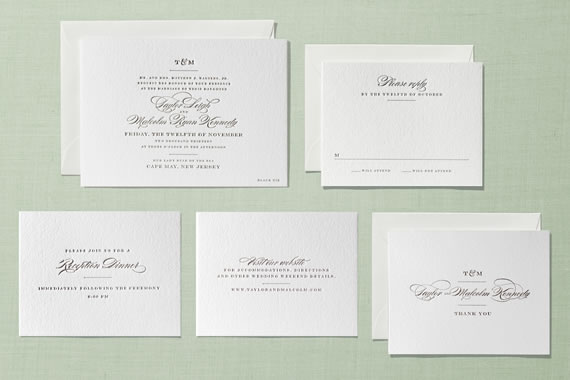 Minted Wedding Letterpress Stationery Invitations