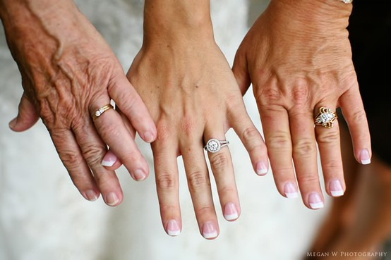 Must have wedding photos: Grandmother, Mother, and Daughter Wedding Ring