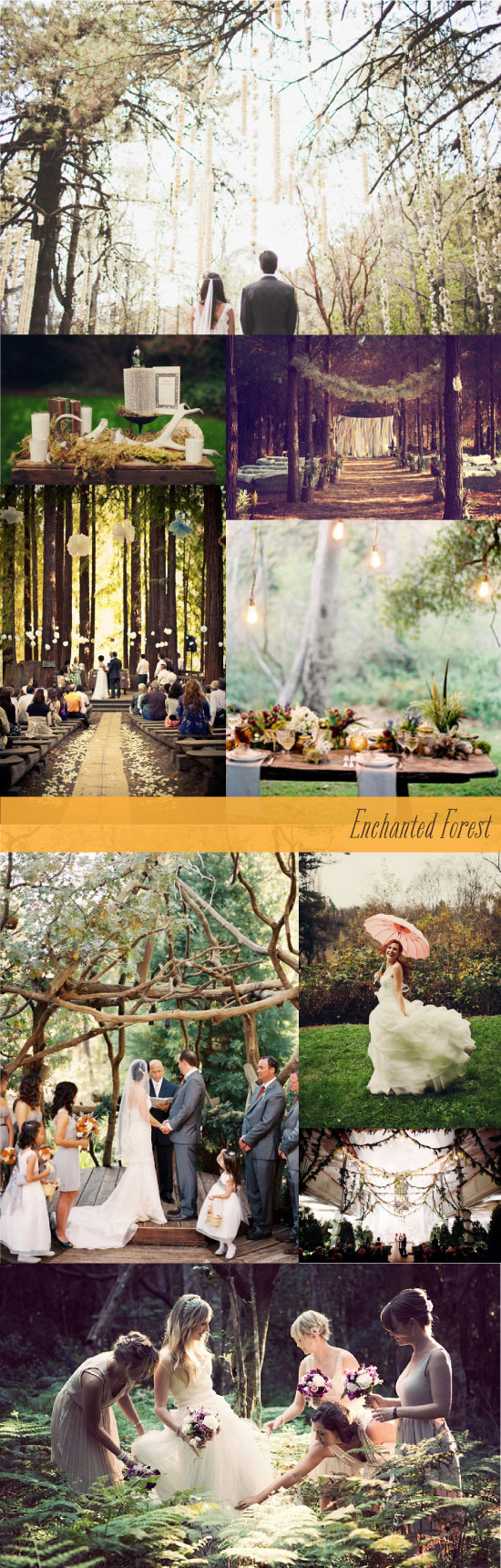 Enchanted Rustic Forest Wedding Inspiration Board