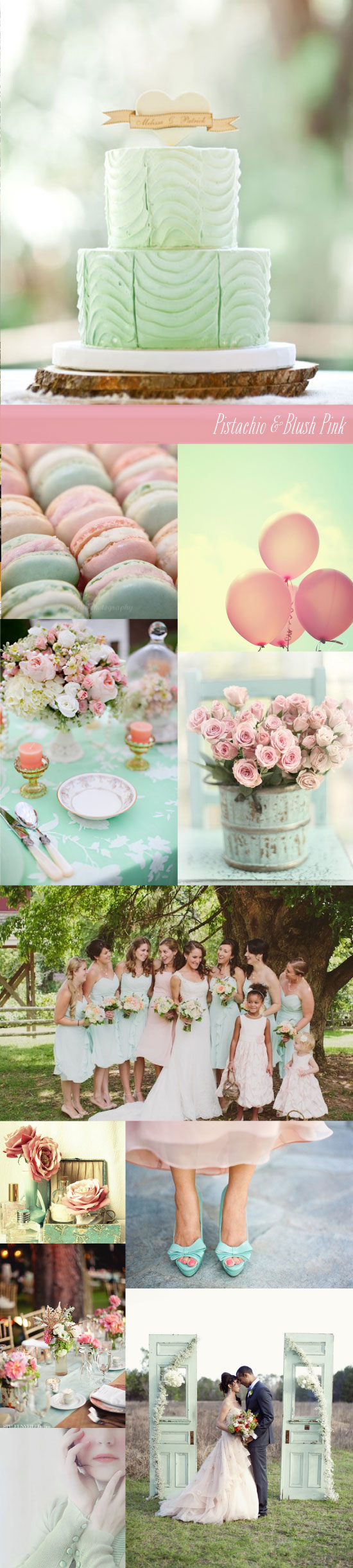 Pistachio and Blush Pink Wedding