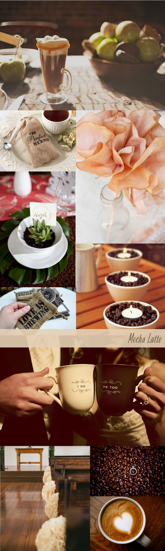 Mocha Latte Coffee Wedding Inspiration Board