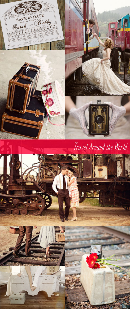 Train station themed wedding