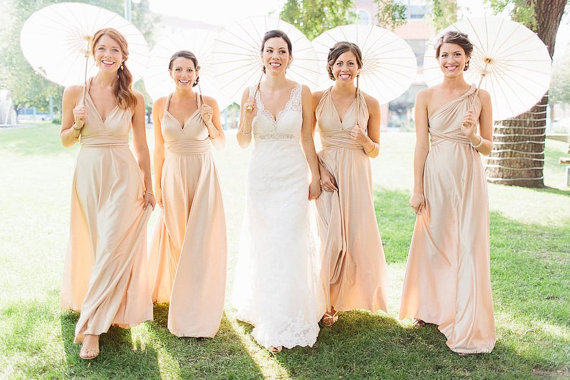 Artsy Wedding Handmade Bridesmaid Dresses maxi dress wrap