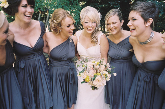 Artsy Wedding Handmade Bridesmaid Dresses multi wrap