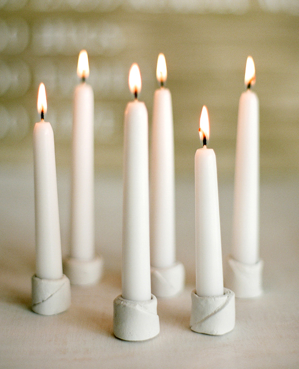 DIY Winter Wedding Candleholders