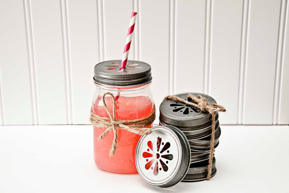 Etsy Love Wedding Decoration Mason Jars DIY