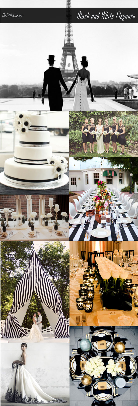 Inspiration Boards Black and White Wedding Elegance