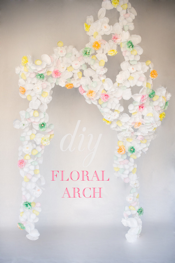 DIY How to make floral ceremony arch tutorial