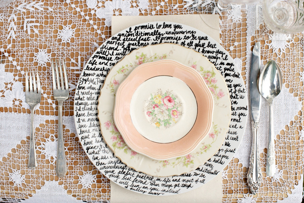 DIY How To Make Handwritten Plates