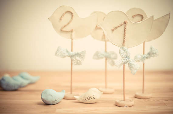 Artsy Rustic Wedding Table Numbers