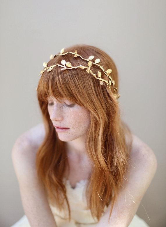 Etsy Love: Gilded double hair vine
