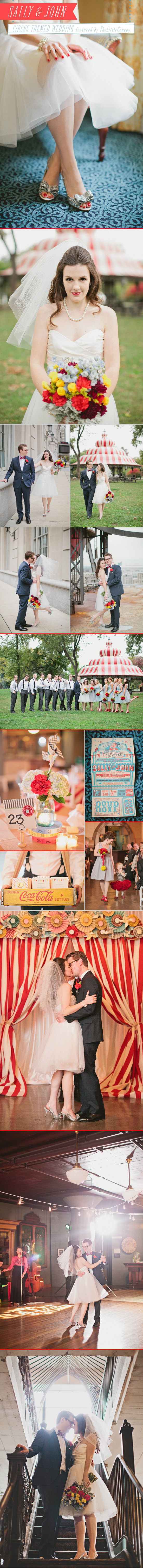 Real Wedding: Circus Theme