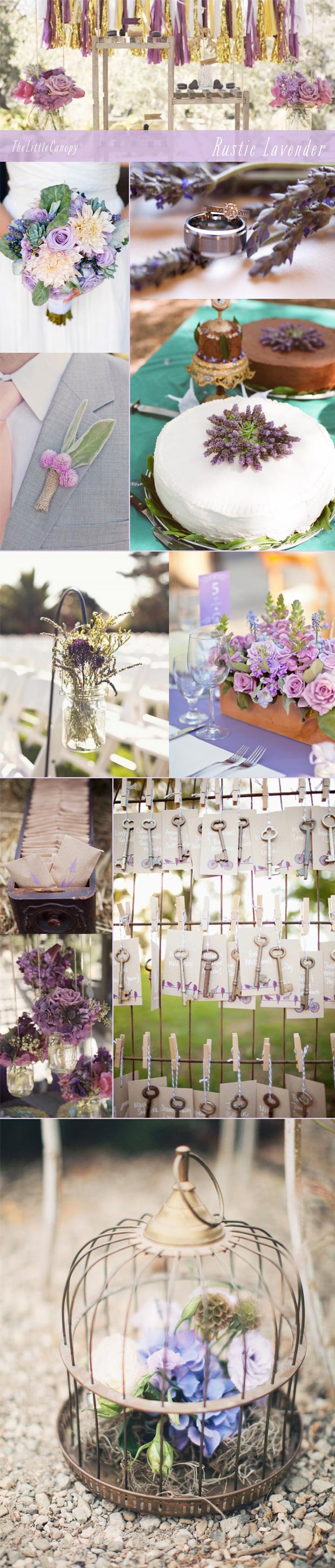 Rustic Lavender Inspiration Board