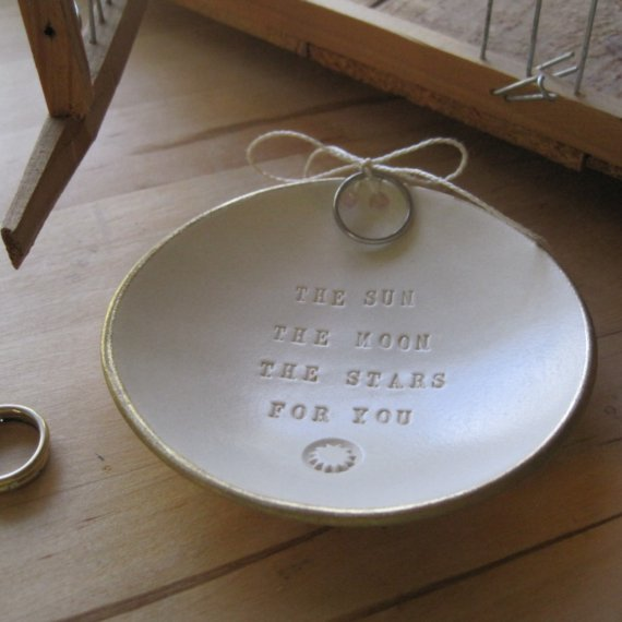 Artsy Ring Bearer Ceramic Ring Holder Dish
