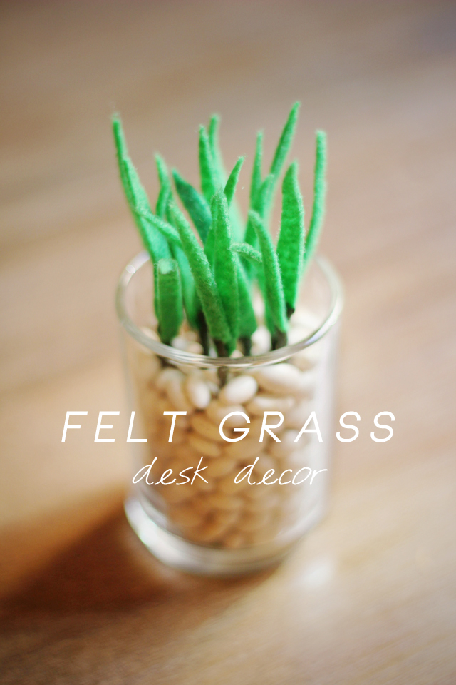 a cute tutorial on how to make felt grass jars that would be great as gifts or wedding favors